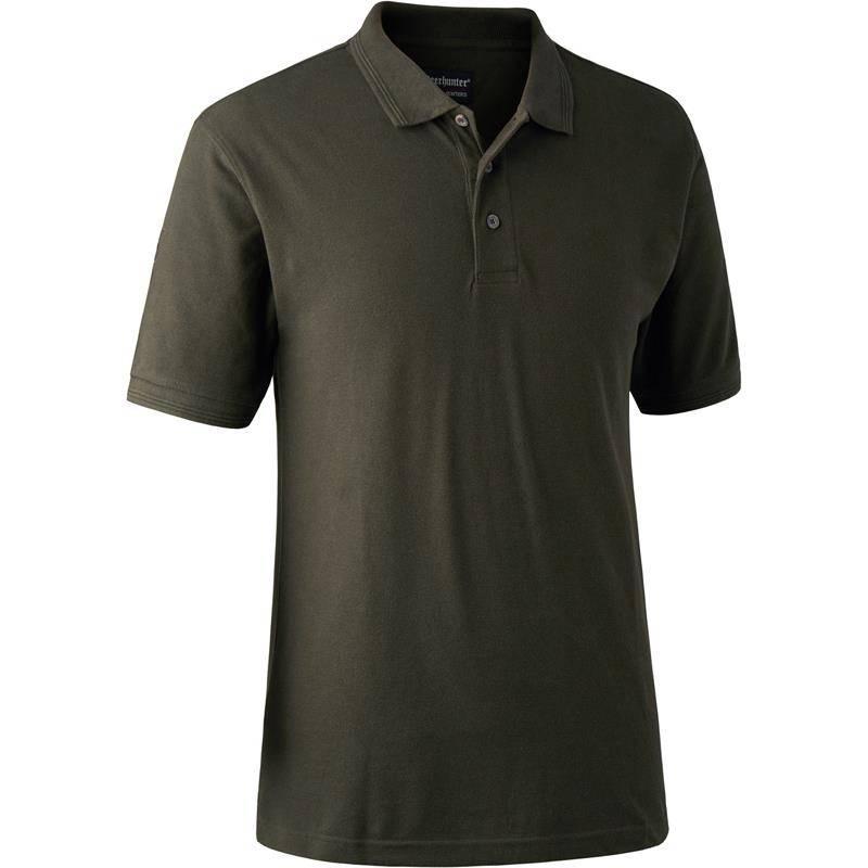 Polo Homme Deerhunter Redding Polo Shirt - Bark Green