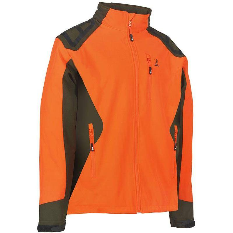 Softshell Homme Percussion Predator - Orange