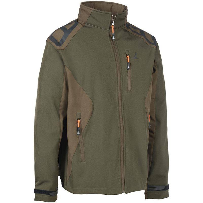 Softshell Homme Percussion Predator Softshell - Vert/Marron