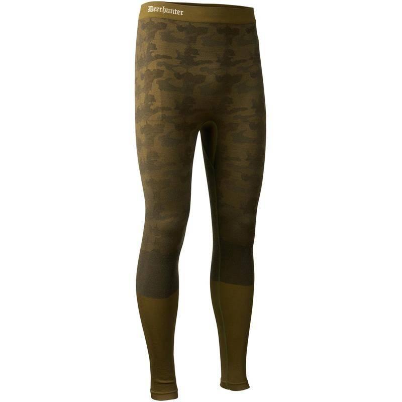 Sous Vetement Homme Deerhunter Camou Wool Long Johns - Beech Green