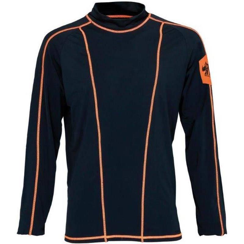 Sous Vetement Tee Shirt Homme Ligne Verney-Carron Rhino - Noir/Orange