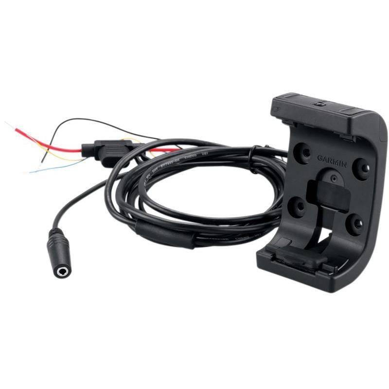 Support Moto Garmin Avec Cable D'alimentation Audio