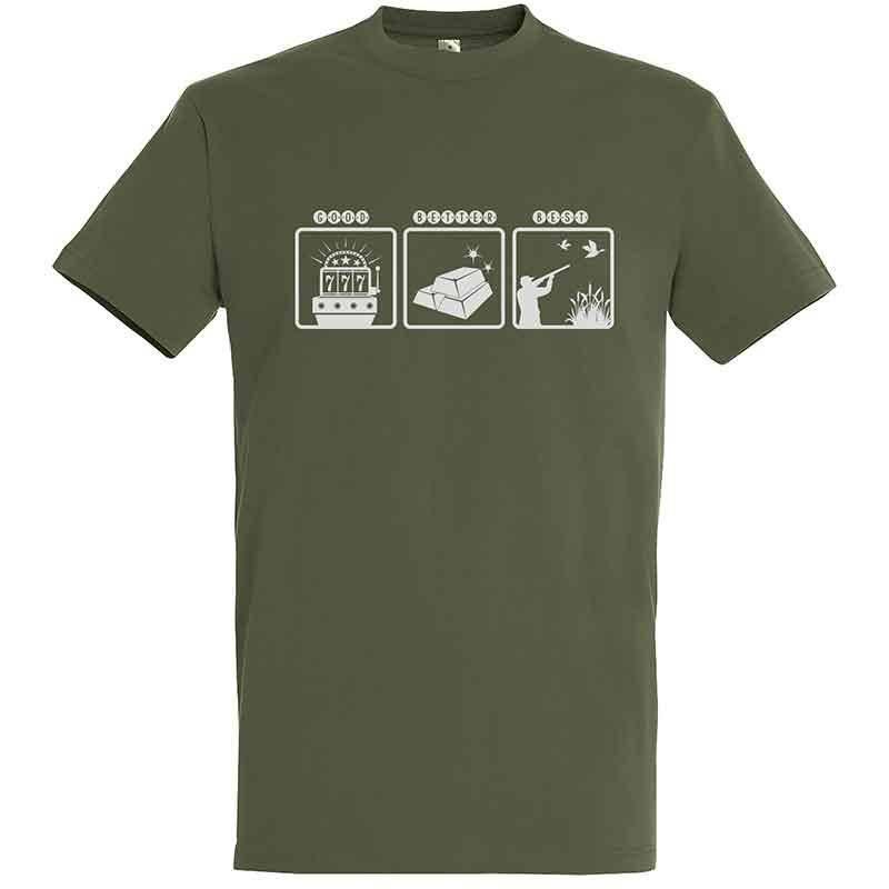 Tee Shirt Manches Courtes Homme Bartavel Good Better Best - Kaki