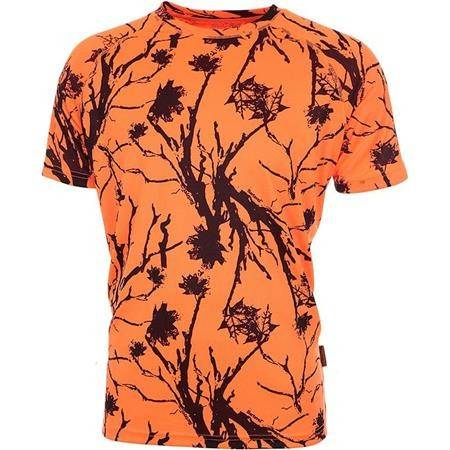 TEE SHIRT MANCHES COURTES HOMME BARTAVEL RESPIRANT DIEGO - ORANGE CAMO