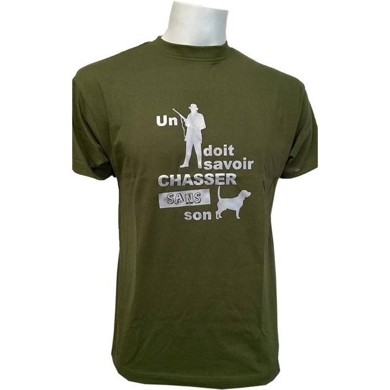 Tee Shirt Manches Courtes Homme Bartavel Un Chasseur - Kaki