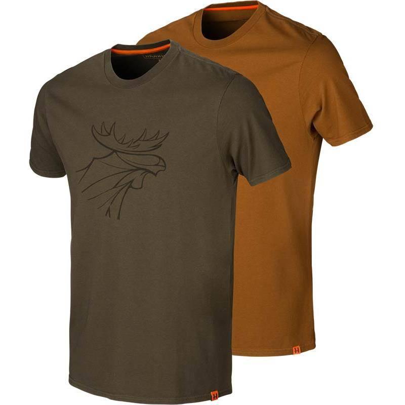 Tee Shirt Manches Courtes Homme Harkila Graphic - Vert/Argile - Par 2