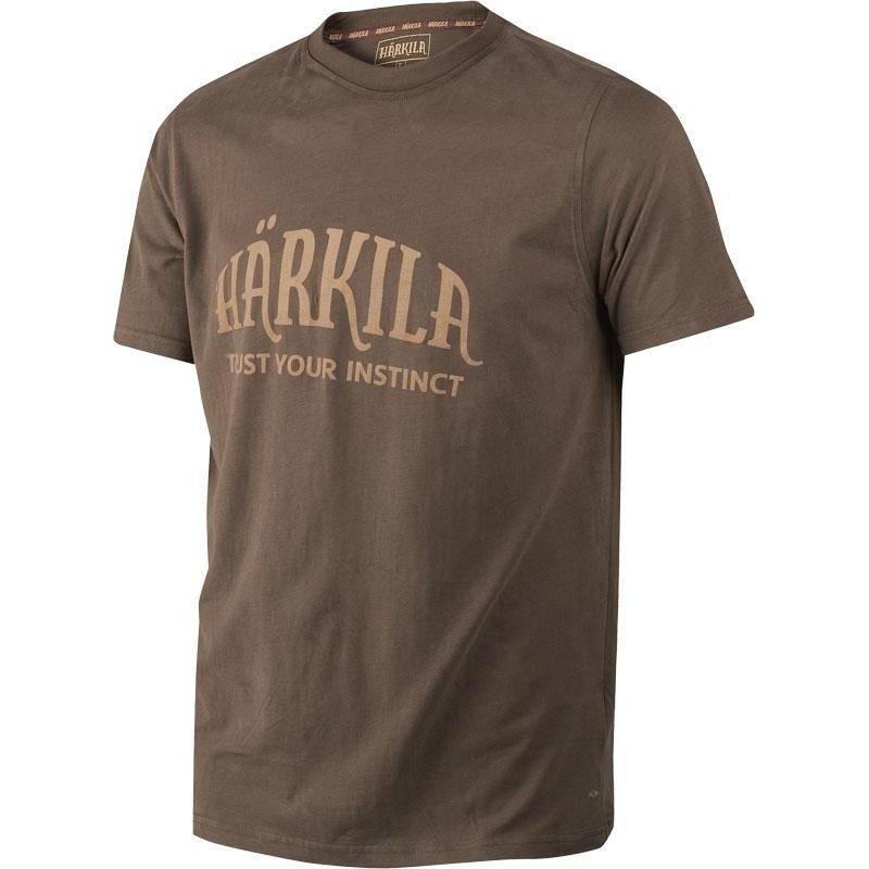 Tee Shirt Manches Courtes Homme Harkila - Marron