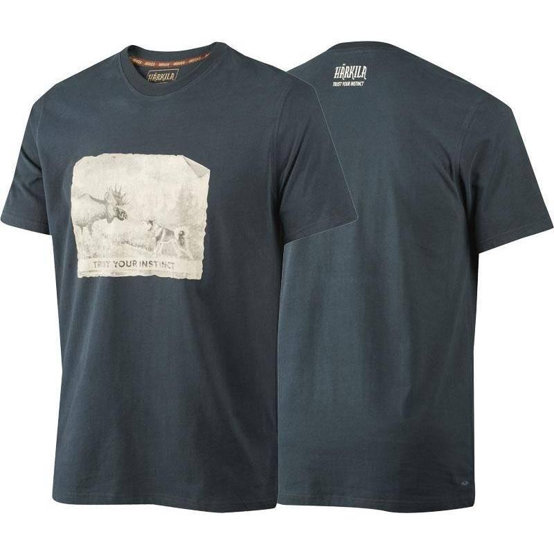 Tee Shirt Manches Courtes Homme Harkila Odin Moose & Dog - Marine