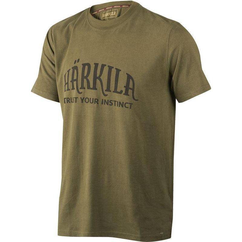 Tee Shirt Manches Courtes Homme Harkila - Olive