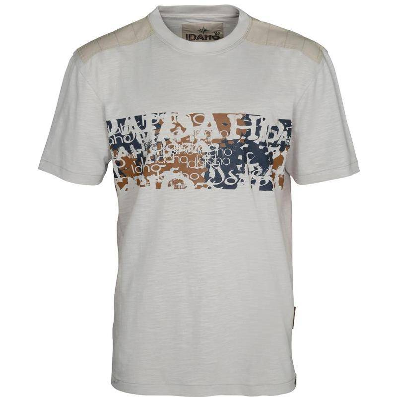 Tee Shirt Manches Courtes Homme Idaho Summer Camp - Beige