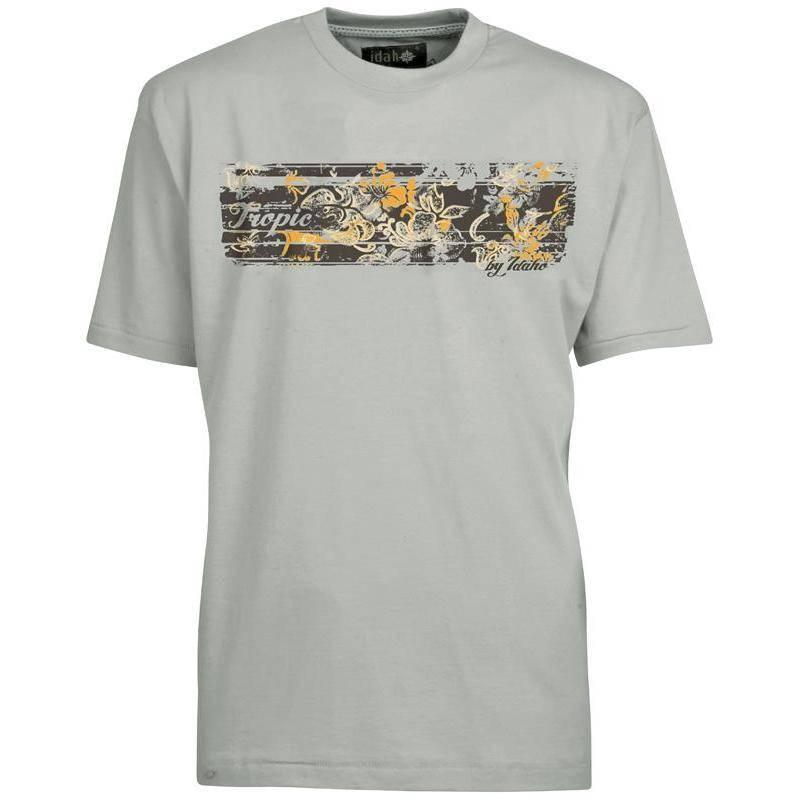 Tee Shirt Manches Courtes Homme Idaho Tropic - Beige