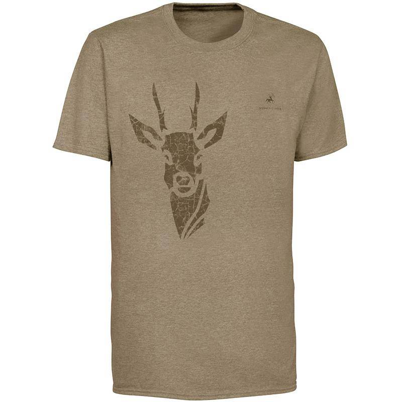 Tee Shirt Manches Courtes Homme Ligne Verney-Carron Tee For Two Chevreuil - Beige