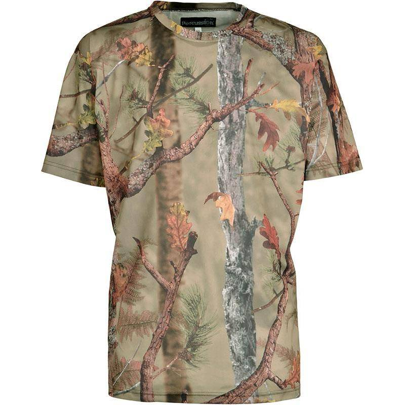 Tee Shirt Manches Courtes Homme Percussion Palombe - Ghost Camo Forest