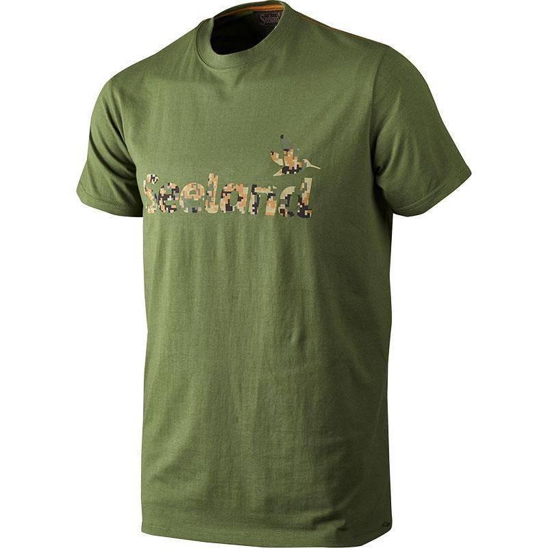 Tee Shirt Manches Courtes Homme Seeland Camo - Vert
