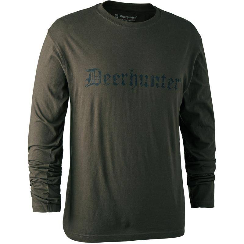 Tee Shirt Manches Longues Deerhunter Logo L/S - Bark Green