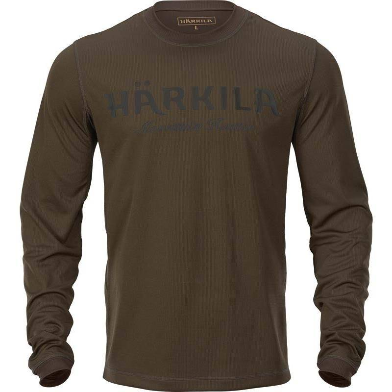 Tee Shirt Manches Longues Homme Harkila Mountain Hunter Ls - Vert/Marron